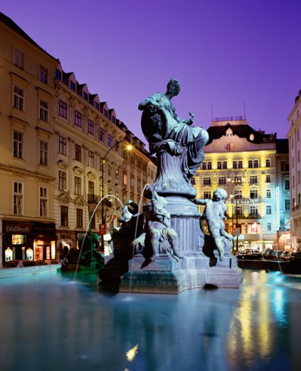 Donnerbrunnen Fountain, Neuer Markt, Vienna, Austria : Stock Photo