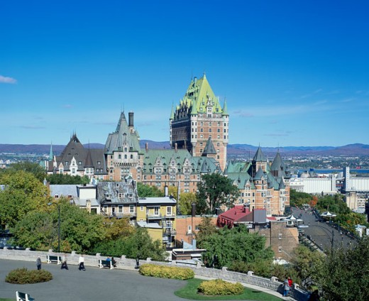 Stock Photo: 1269-907B Hotel in a city, Chateau Frontenac Hotel, Quebec City, Quebec, Canada