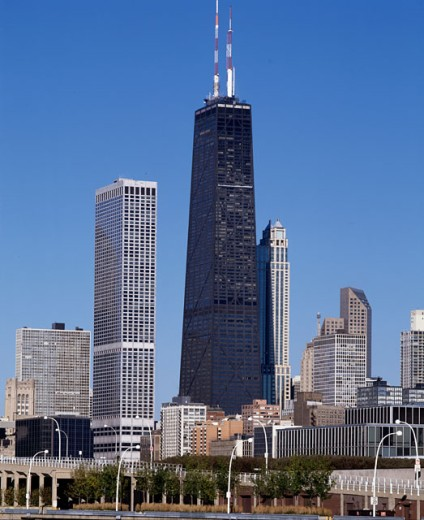 Stock Photo: 1269-923 Skyscrapers in a city, Chicago, Illinois, USA