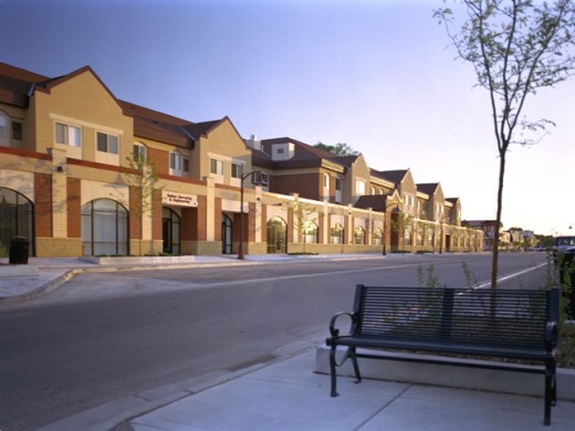 Stock Photo: 1280-208 Rows of houses on a street
