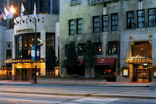 Entrance of a bar, InterContinental Chicago, Michigan Avenue, Chicago, Illinois, USA : Stock Photo