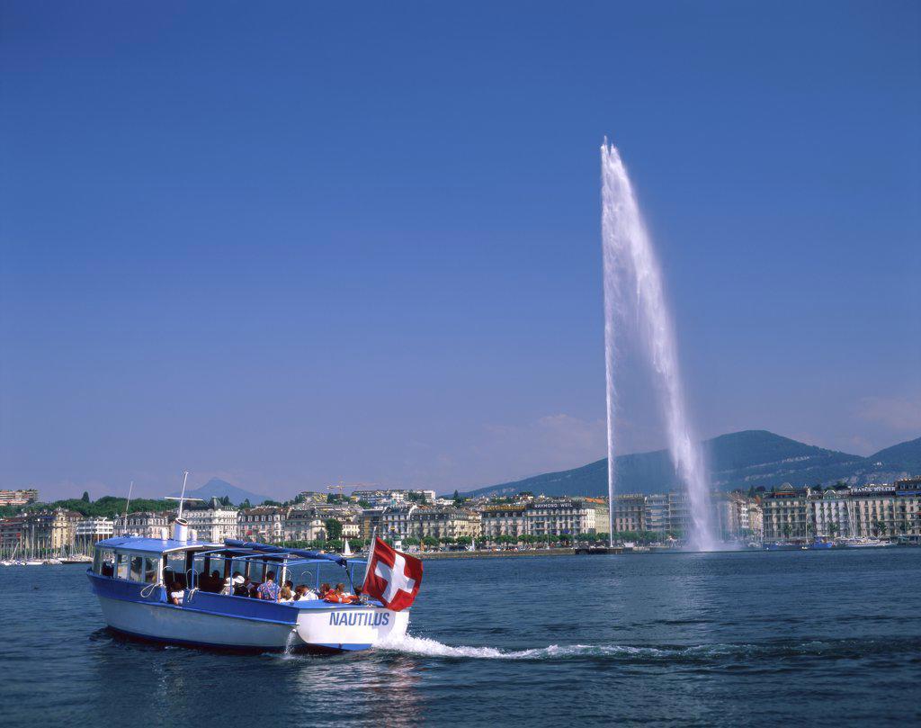 Lake Geneva Geneva Switzerland : Stock Photo