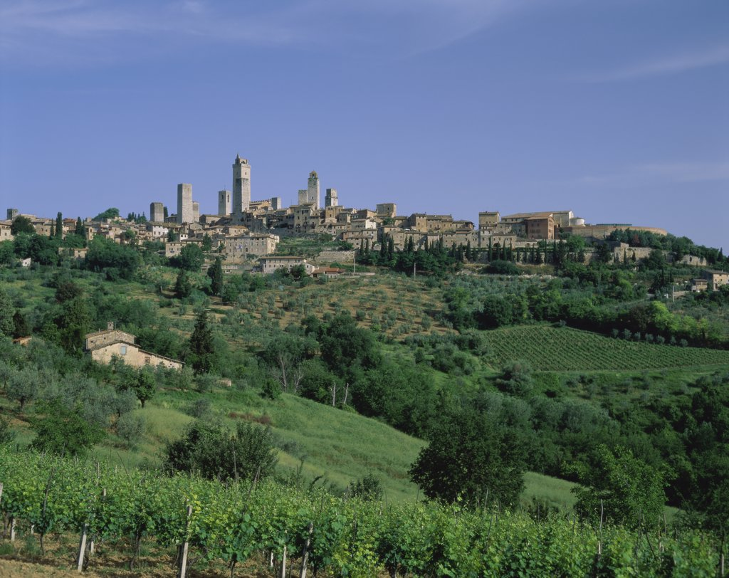 Stock Photo: 1288-1336 San Gimignano