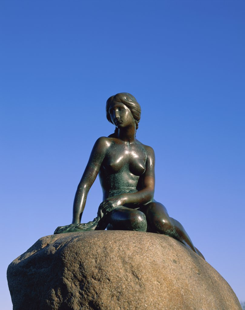 Stock Photo: 1288-1349B Little Mermaid Statue, Copenhagen, Denmark