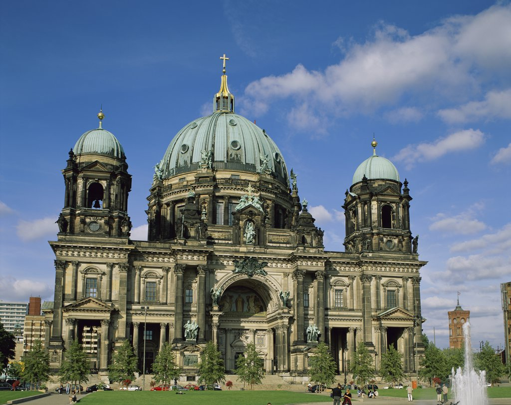Stock Photo: 1288-1498 Facade of a cathedral, Berlin Cathedral, Berlin, Germany