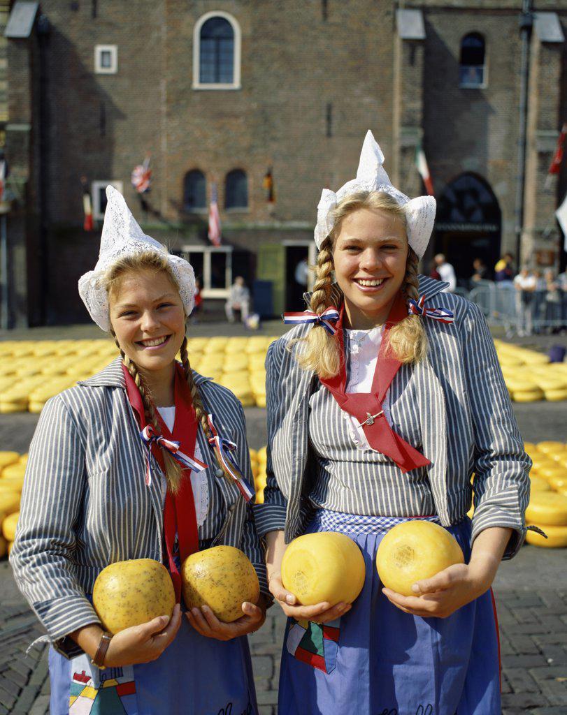 Stock Photo: 1288-1688 Cheese Market Alkmaar Netherlands