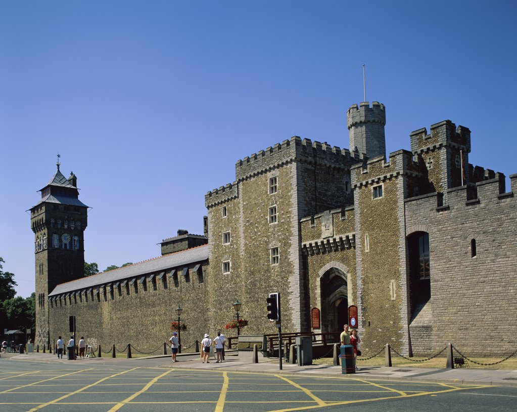 Cardiff Castle Cardiff Wales : Stock Photo