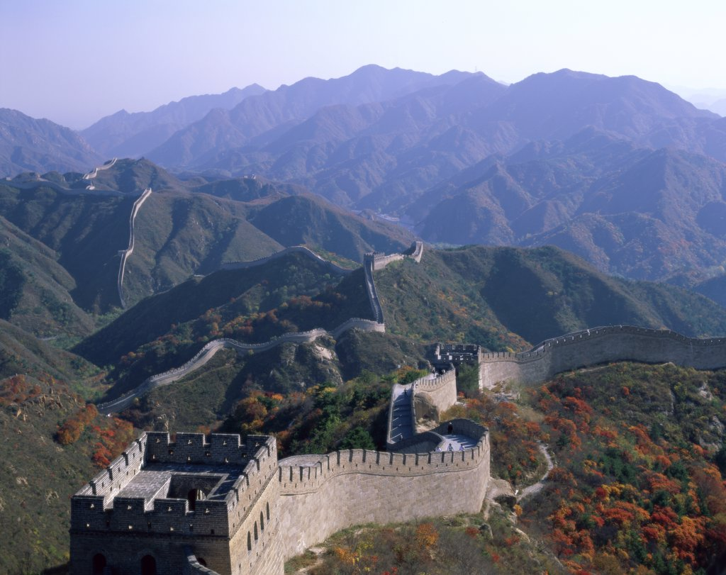 High angle view of the Great Wall, China : Stock Photo