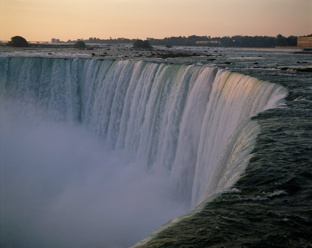 Stock Photo: 1288-714 High angle view of a waterfall, Niagara Falls, Ontario, Canada