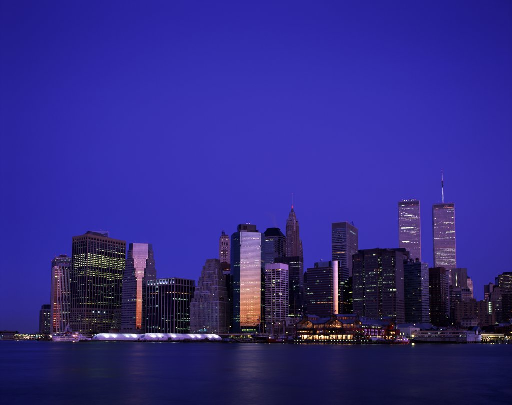 Stock Photo: 1288-850 City on the waterfront, New York City, New York, USA