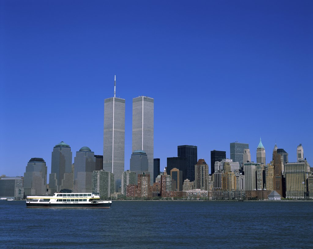 Stock Photo: 1288-854 City on the waterfront, New York City, New York, USA