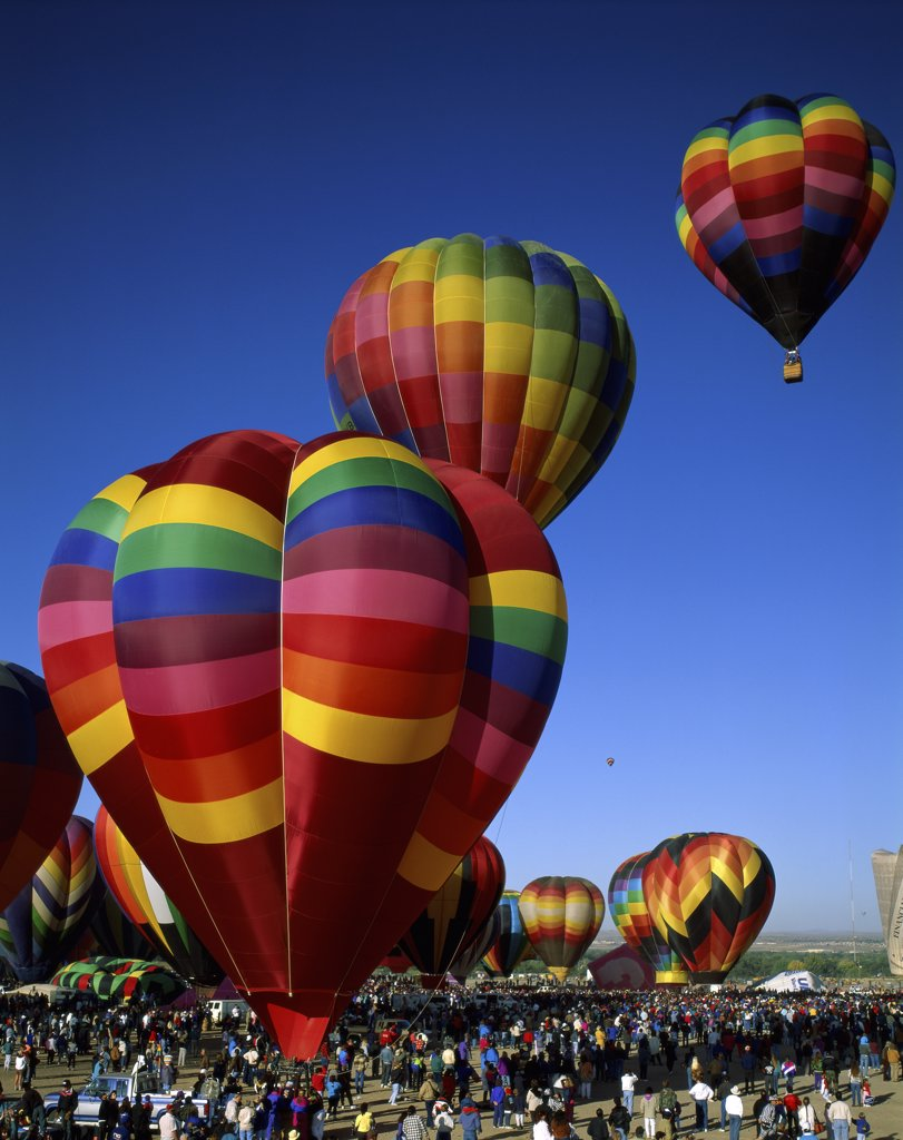 Stock Photo: 1288-913 Hot air balloons at the Albuquerque International Balloon Fiesta, Albuquerque, New Mexico, USA