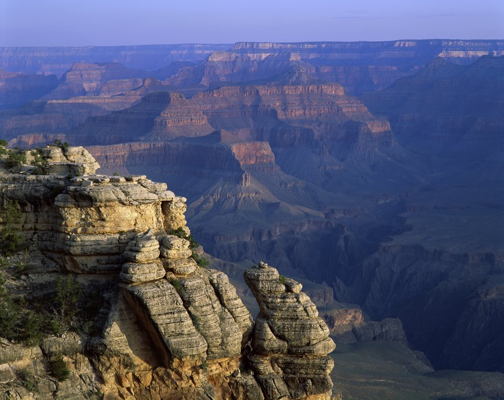 High angle view of rock formation, Grand Canyon National Park, Arizona, USA : Stock Photo