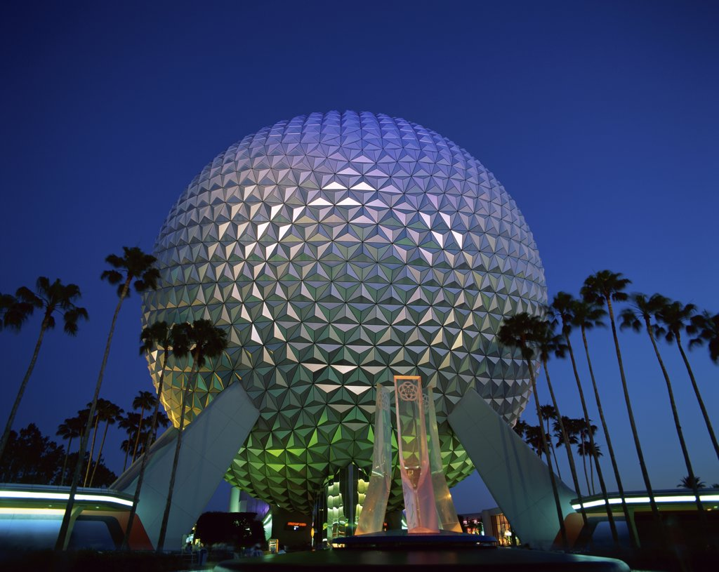 Low angle view of a geodesic dome spaceship earth epcot - The geodesic dome in connecticut call of earth ...