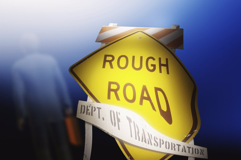 Stock Photo: 1289-305 Close-up of a road sign