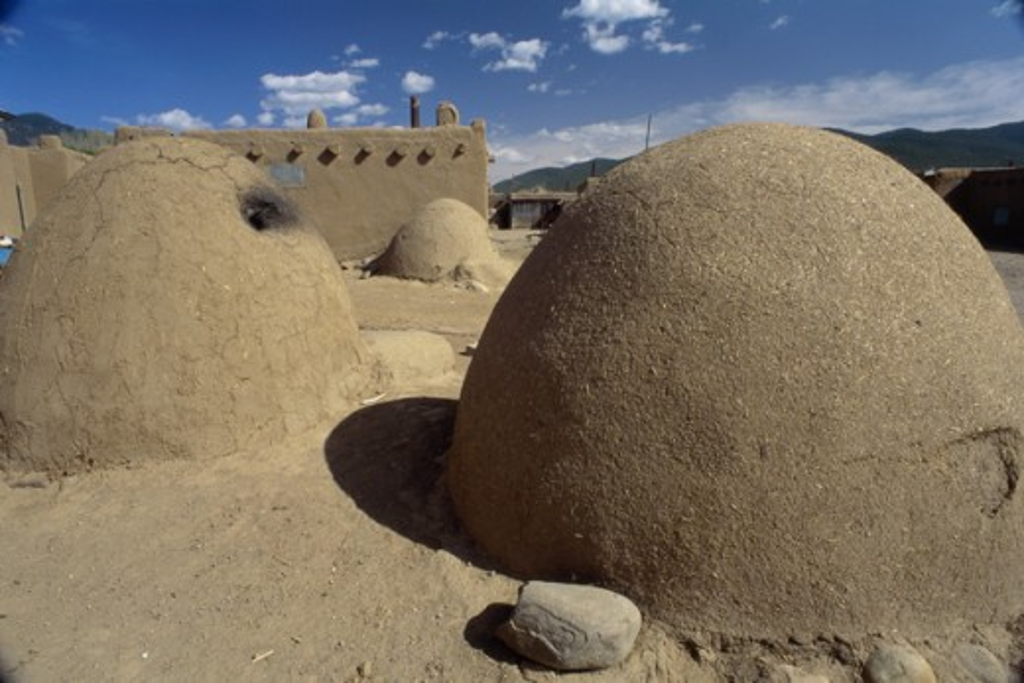 Stock Photo: 1295-1874A Taos Pueblo New Mexico USA