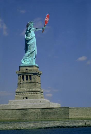 Stock Photo: 1296-133 Statue of Liberty