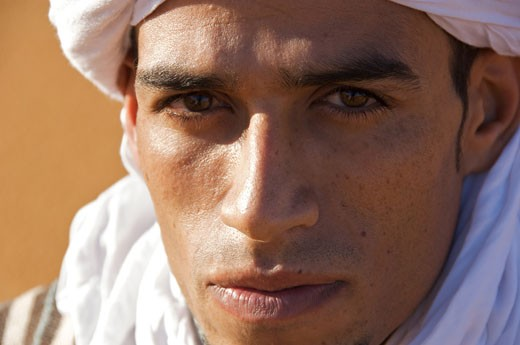 Portrait of a Tuareg man, Morocco : Stock Photo