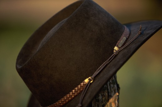 Close-up of a cowboy hat : Stock Photo