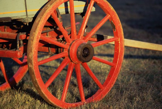 Wagon wheel : Stock Photo