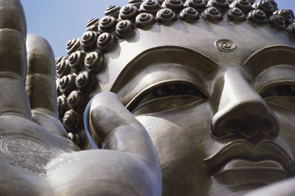 Stock Photo: 1311-1155 Close-up of a statue of Buddha, Lentau Island, Hong Kong, China