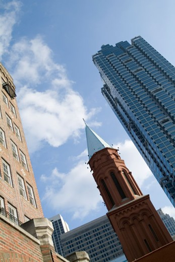 Low angle view of buildings in a city, Atlanta, Georgia, USA : Stock Photo