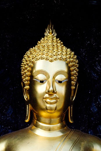 Close-up of a statue of Buddha : Stock Photo
