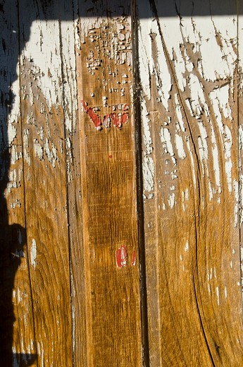 Close-up of a wooden door, Encino, New Mexico, USA : Stock Photo
