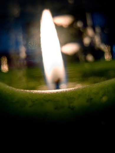 Stock Photo: 1311-2163 Close-up of a burning candle