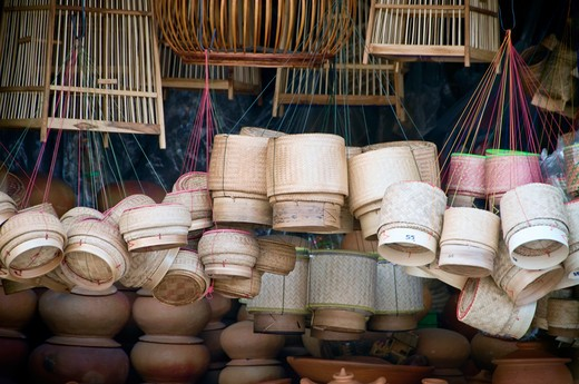 Stock Photo: 1311-2292 Thailand, Khon Kaen, Thai hardware store that features mostly woven goods