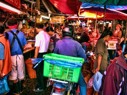 Stock Photo: 1311-2334 Khon Kaen, Thailand, Khon Kaen, street market