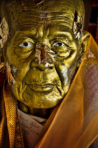 Stock Photo: 1311-2344 Thailand, Buddhist statue, close-up