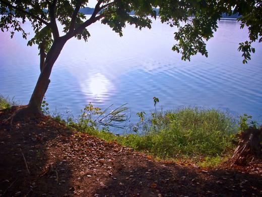 Thailand, Khon Kaen, Nakhon Lake, Scenic view : Stock Photo