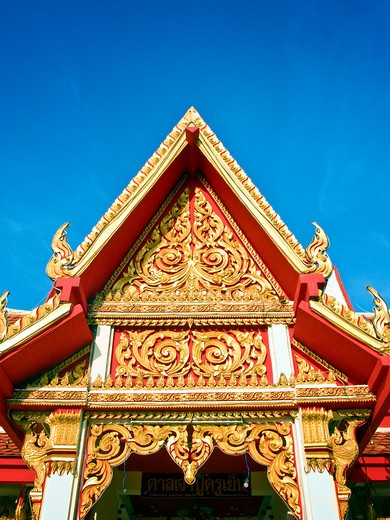 Thailand, Kohn Kaen, Chinese Temple near Nakhon Lake : Stock Photo
