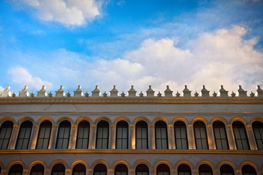 Low angle view of a hotel, Venetian Hotel, The Strip, Las Vegas, Nevada, USA : Stock Photo