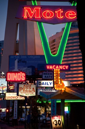 Stock Photo: 1311-2487 Buildings in a city, The Strip, Las Vegas, Nevada, USA