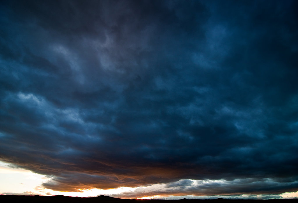 Storm clouds, New Mexico, USA : Stock Photo
