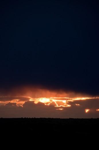Stock Photo: 1311-2595 Sunset, New Mexico, USA