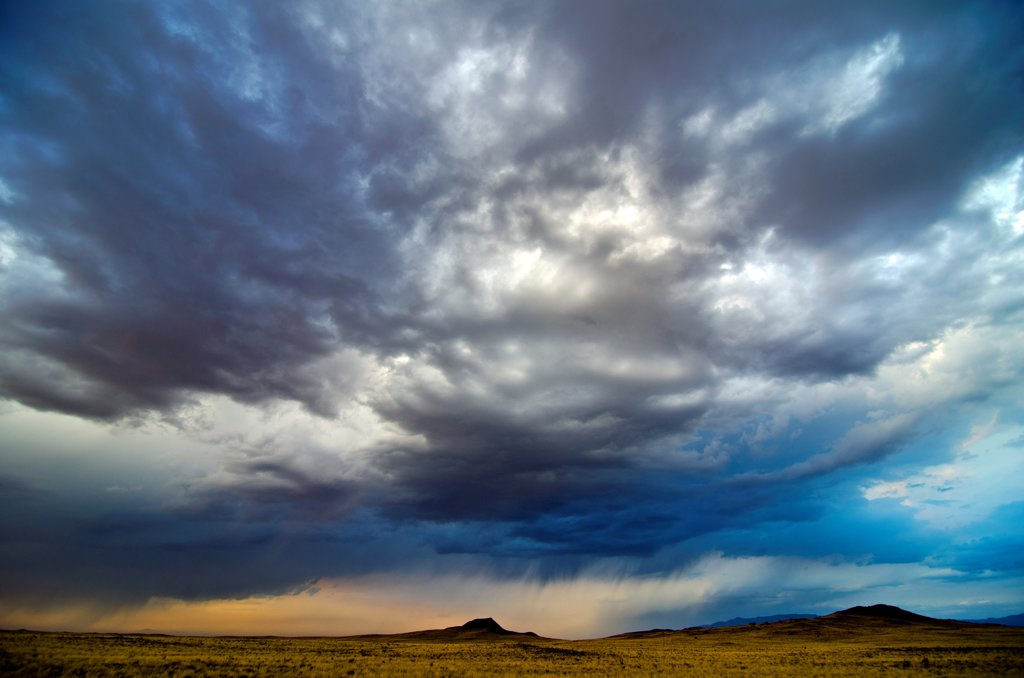 Stock Photo: 1311-2665 Cloudy sky at sunset, New Mexico, USA