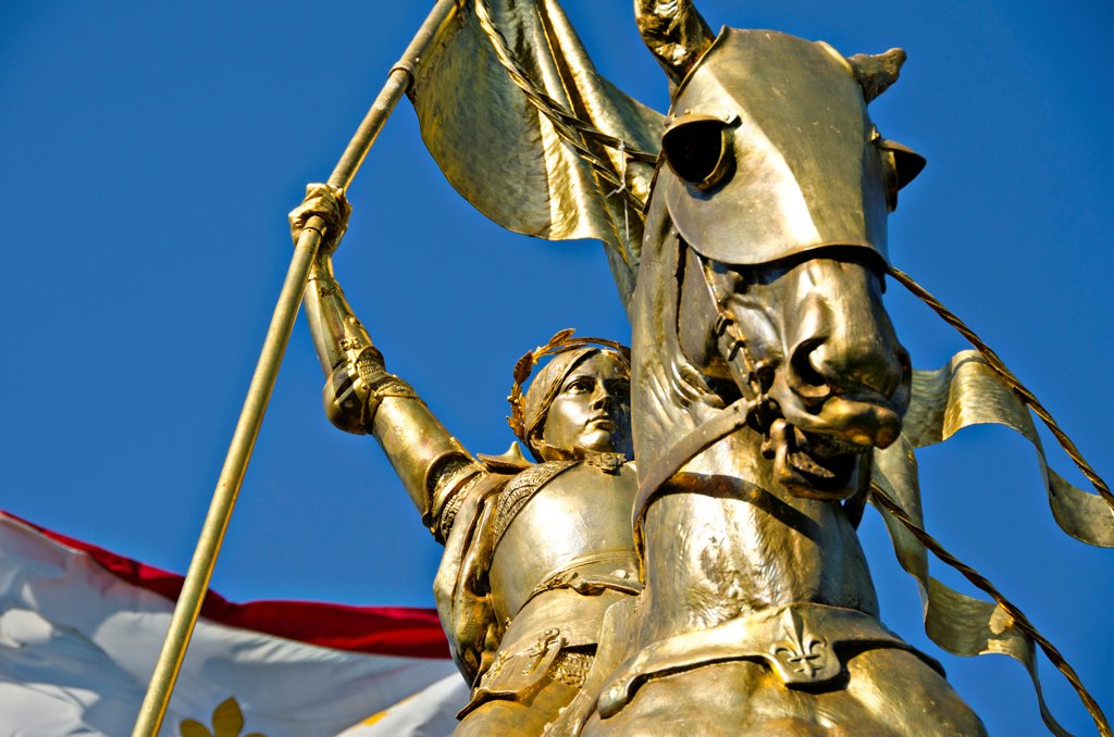 Stock Photo: 1311-2692 St. Joan Of Arc on Decatur Street, French Quarter, New Orleans, Louisiana, USA