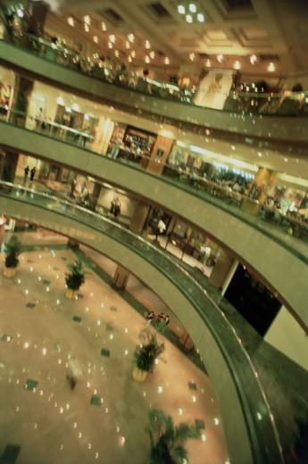 Stock Photo: 1311-422 Interior of a shopping mall, Lucky Plaza, Singapore