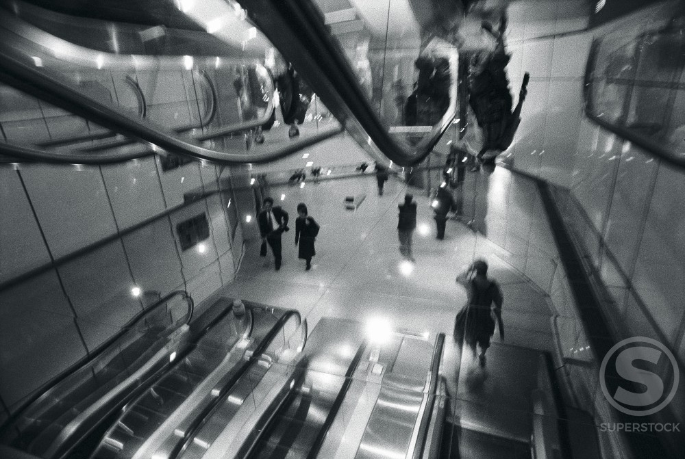 Stock Photo: 1311-446 Landmark Shopping Centre Central MTR Station Hong Kong China