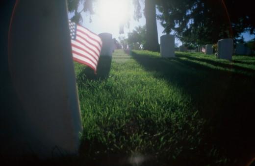Stock Photo: 1311-801 Military Cemetery Santa Fe New Mexico, USA