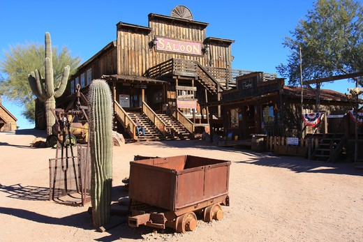 USA, Arizona, Goldfield, Mammoth Saloon : Stock Photo
