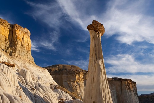 Stock Photo: 1317-1150 Hoodoo formations on a landscape, Grand Staircase-Escalante National Monument, Utah, USA