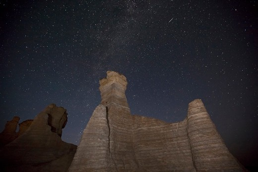 Stock Photo: 1317-1487 Rock formations at Monument Rocks, Gove County, Kansas, USA