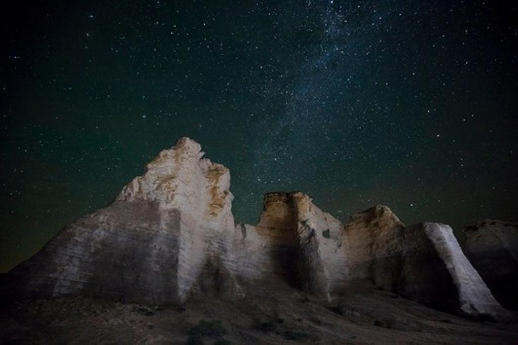 Rock formations at Monument Rocks, Gove County, Kansas, USA : Stock Photo