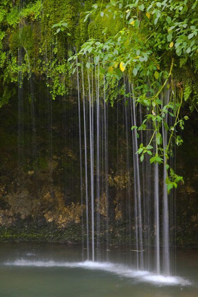 Stock Photo: 1317-1503 Waterfall at Natural Falls State Park, Ozark Mountains, Delaware County, Oklahoma, USA