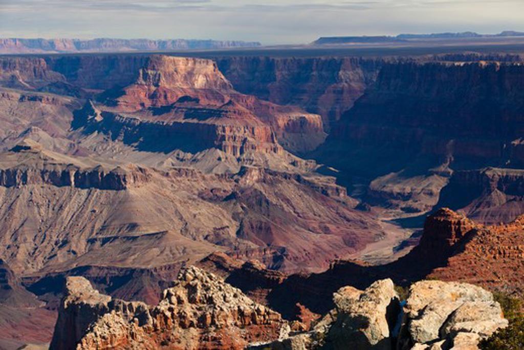 High angle view of a canyon, Grand Canyon National Park, Arizona, USA : Stock Photo
