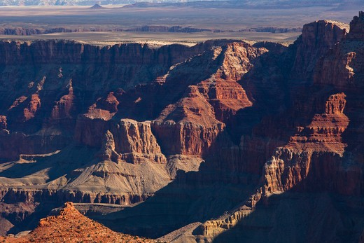 Stock Photo: 1317-585 Rock formations on a landscape, Grand Canyon National Park, Arizona, USA